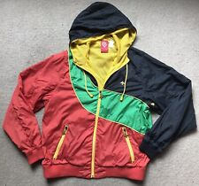 LRG Roots People Red Yellow Green Black Coat Jacket Small