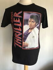 """MICHAEL JACKSON Official Thriller Retro """"Vintage Distressed"""" T-Shirt Size Small"""