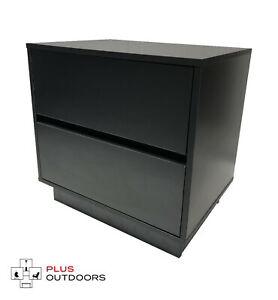 2 Drawer Cabinet Office Storage Drawers Cupboard Black Colour 01