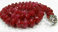 New 5X8mm Faceted Red Ruby Abacus Necklace 18""