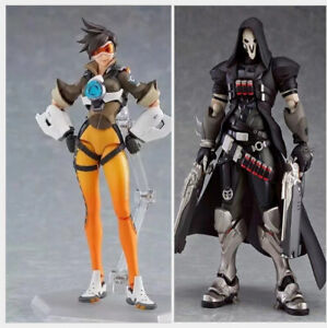 Game Overwatch Figma Tracer Reaper Exclusive Pvc Action Figure Toy New No Box