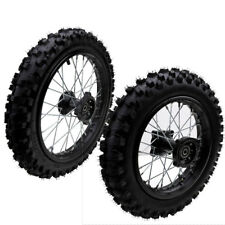 "Axle 60/100- 14"" 80/100-12  Front & Rear Wheel Rim Knobby Tyre PIT PRO Dirt Bike"