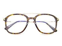 Tom Ford FT5610-B 052 dark havana blue tinted lens,GLASSES,FRAMES,EYEGLASSES