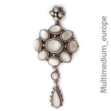 Pendentif en argent nacre silver HOMOLOGUE Mother of Pearl Sterling dans le style Art Déco