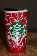 Starbucks Red Bird Ceramic Travel Coffee Tumbler Mug Cup 2016