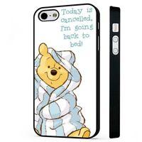 Winnie The Pooh Bear Disney Sleepy BLACK PHONE CASE COVER fits iPHONE