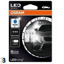 2x OSRAM LEDriving W5W 501 12V W2.1x9.5d Ice Blue 6800K Wedge Bulbs 2850BL-02B