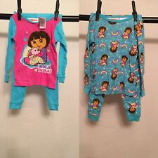 Dora The Explore 2 Set Pajama girls 3T 4pc Total