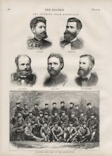 OLD ANTIQUE 1874 PRINT OFFICERS AND MEN OF THE AUSTRIAN POLAR EXPEDITION b140