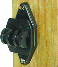 Electric Fence Insulators Wood Post Nail Black 100 Pack Heavy Duty Plastic