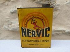 "Ancien bidon d'huile Auto ""NERVIC"" Loyd Pensylvania Company / Salon-de-Provence."