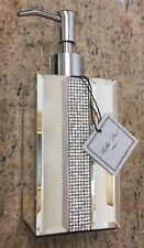 BELLA LUX Mirror Rhinestone Crystal Center  LIQUID SOAP PUMP DISPENSER
