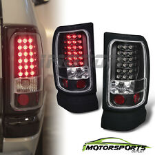 1994-2001 Dodge Ram 1500/1994-2002 Ram 2500 3500 Black LED Brake Tail Lights