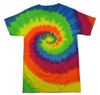 Cotton Tie Dye T-Shirts Youth XS 2-4  to Youth L 14-16 Multi-Color Eclipse
