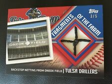 Tulsa Drillers 2015 Pro Debut Fragments of the Farm Red /5 Backstop Net Relic GU