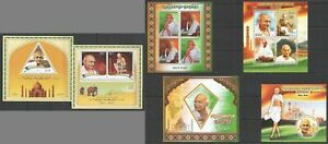 PE227,527,610 2015 GREAT HUMANISTS MAHATMA GANDHI RETURN TO INDIA 3KB+3BL MNH