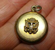 american eagle sweetheart locket pendant Vintage Wwii ?1/20 12K gold filled