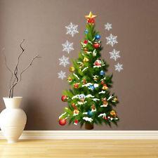 Green Christmas Tree Star Waterproof PVC Mural Decal Wall Sticker