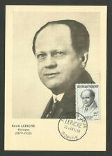 MEDECIN LERICHE / CARTE MAXIMUM CARD / ROANNE 1958