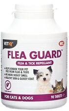 VETIQ FLEA GUARD TABLETS FOR CAT & DOG x 90 Totally Natural Repel fleas & ticks