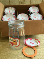 Luminarc Arc France Canister Canning Mason Jars Six New in Box NOS Vintage 1L