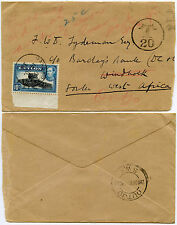 POSTAGE DUE SOUTH WEST AFRICA from CEYLON 1939 OUTJO REDIRECTED.. T20
