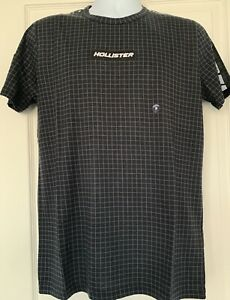 Hollister Mens Logo Tape T-Shirt Black