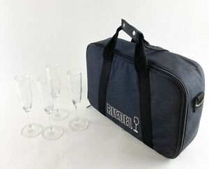 Riedel Vivium Champagne Glasses (Set of 4) with Black Riedel Carrying Case