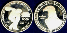 United States 1 Dollar 1983 S Olympics - Discobolus Silver Proof #4691