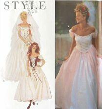Simplicity Sewing Pattern Wedding Dress 6-16 Renaissance 9163 B&W COVER UNCUT