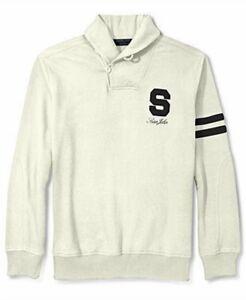 $199 Sean John Men'S White Sweatshirt Long Sleeve Sweater Shirt Hoodie Size S