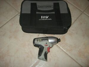 """CRAFTSMAN NEXTEC 320.61189 S1648 1/4"""" IMPACT DRIVER - BARE TOOL CASE INCLUDED"""