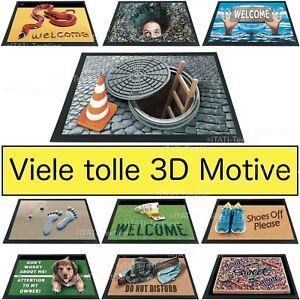 Fussmatte lustige 3D Optik schwere Schmutzfangmatte viele tolle Motive