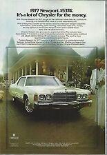 1977 CHRYSLER NEWPORT advertisement, Chrysler NEWPORT ad, white 2-door