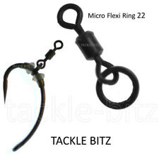 Fishing Tackle Size 22 Micro Hook Flexi Ring Swivels For Carp Ronnie Chod Rigs