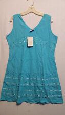 Women Clothing Sundress Summer Beach Top Sun Dress T Blue Free Size
