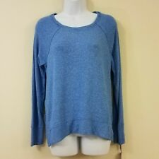 Calvin Klein Knit Top Large Blue Performance Pullover Top Shirt Womens New