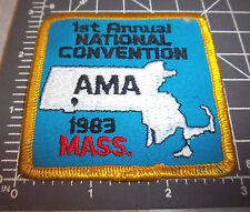 1st annual AMA national convention, 1983 MASS. Embroidered Patch