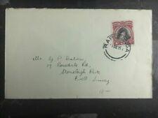 1935 Rarotonga Cook Islands Cover To Ewell Surrey England