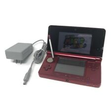 Nintendo 3DS Red CTR-001 Loaded 30+ Games  SD Card Mario Tested Working Charger