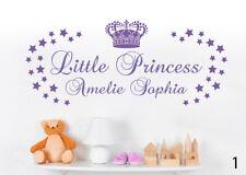 Little Princess - Kinderzimmer Name Wandaufkleber Kleine Prinzessin WandTattoo