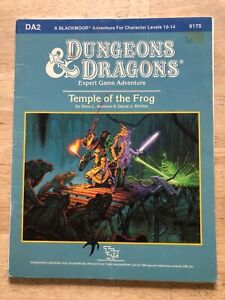 Vintage - Dungeons & Dragons - TEMPLE OF THE FROG - DA2 - TSR 9179 - Very Good!