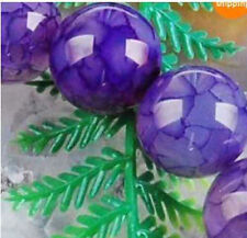 """5 color Dragon Veins Agate Round Loose Beads Gems 14 """" 6-8-10mm"""