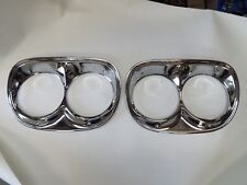1958 58 1959 59 Chevy Chevrolet PU Pickup Truck Chrome Pair Headlight Bezels