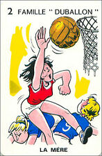 Basket-ball Basketball SPORT PLAYING CARD CARTE À JOUER HUMOR HUMOUR 60s