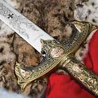 KNIGHTS TEMPLAR MEDIEVAL King Arthur Historical SWORD DAGGER Scabbard w/ PLAQUE