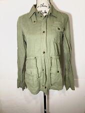 Volcom M green zip up Jacket Women's long sleeve Front Pockets