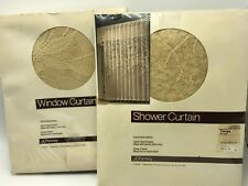 JCPenney Lace Shower Curtain Window Ecru Tanya NIP Set Lot Ivory Floral