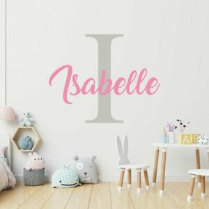 Custom Name Sticker Personalised Nursery Wall Decal Kids Baby Art Bedroom Wall