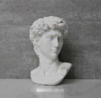 Head Statue Bust Sculpture Art Greek Decor Marble Home Base Figurine Mini Figure